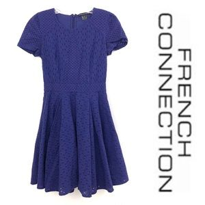 French Connection purple eyelet lace dress